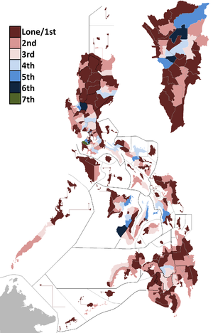 Administrative divisions of the Philippines - Legislative districts for the 16th Congress of the Philippines