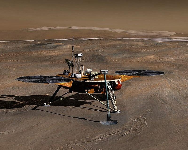 sonde américaine Phoenix s'est posée sur Mars avec à son bord un message audio de Carl Sagan enregistré sur mini-CD