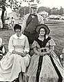 Photograph of three people in period costume, taken at the unveiling of the Foundation of Deseronto plaque in Centennial Park, Deseronto, Ontario, on Saturday, 19th June, 1971. The woman on the right (5036588777).jpg
