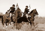 2007 re-enactment of the Picacho Pass battle. Picacho Battle.jpg