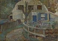 Piet Mondriaan - Farmhouse façade with curb roof - A300 - Piet Mondrian, catalogue raisonné.jpg