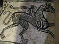 Pieve Terzagni (Pescarolo ed Uniti) - Chiesa di San Giovanni Decollato - Resti di affreschi musivi pavimentali del 1100 06.JPG