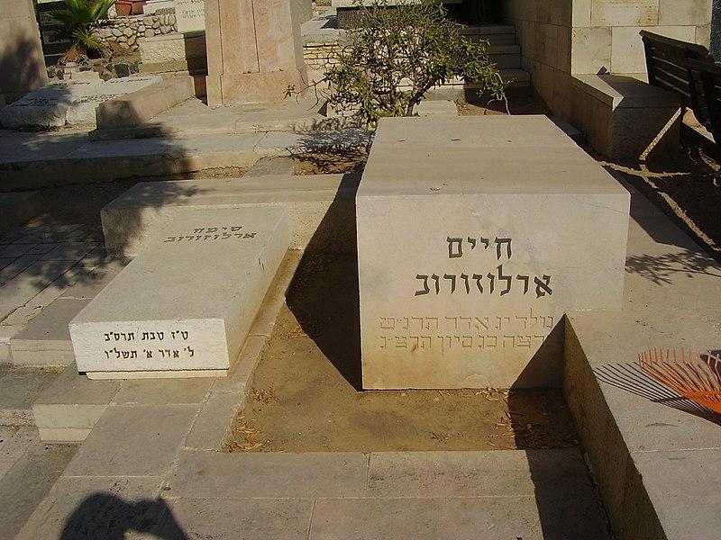 קברם של חיים וסימה ארלוזורוב בתל אביב