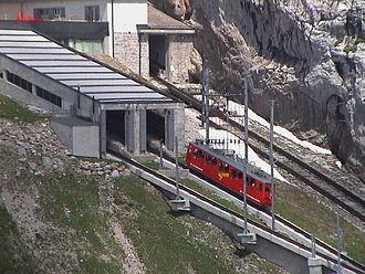Alpnach - Pilatusbahn, the world's steepest rack railway