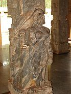 Pillar relief in Ranganatha temple at Rangasthala, Chikkaballapur district