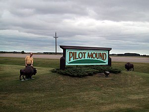 Pilot Mound, Manitoba -  Pilot Mound highway sign