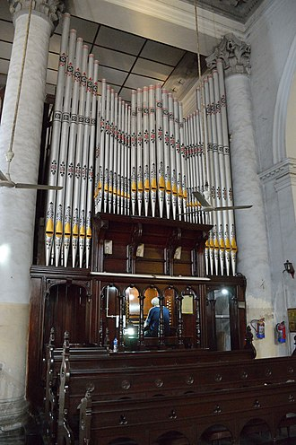 St. John's Church, Kolkata - The Pipe Organ of St John's Church in Kolkata