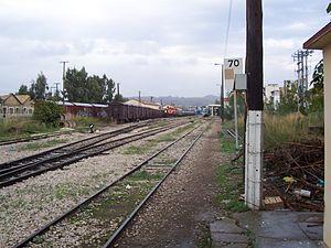 Train station in Pyrgos, Ilia, Greece.