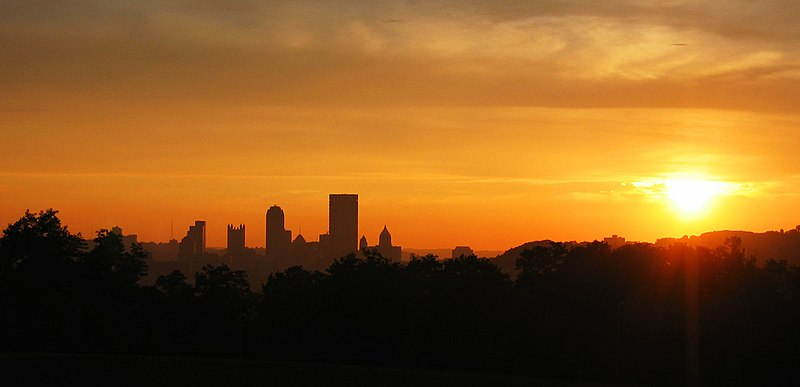 File:Pittsburgh Skyline at Sunset - panoramio.jpg