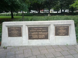 John By - Plaque commemorating fountain in memory of John By in Ottawa