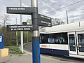 Place des Nations (Geneva) - tramway and signs.JPG