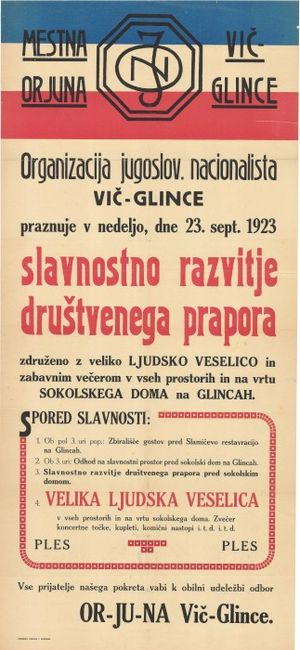 Organization of Yugoslav Nationalists - ORJUNA newsletter from 1923.