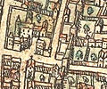 Plan de Paris vers 1530 Braun hotel de Clisson.jpg