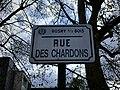 Plaque Rue Chardons - Rosny-sous-Bois (FR93) - 2021-04-15 - 2.jpg
