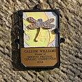 Plaque on bridge over Afon Ceiriog - geograph.org.uk - 1232806.jpg