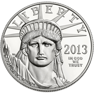 American Platinum Eagle - Common Obverse