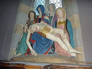 """Plougastel-Daoulas - """"The descent from the cross"""" in the Église Saint-Pierre"""