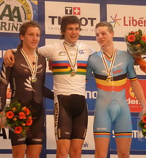 Australia at the UCI Track Cycling World Championships - Michael Freiberg won the gold medal in the Men's omnium in 2011.