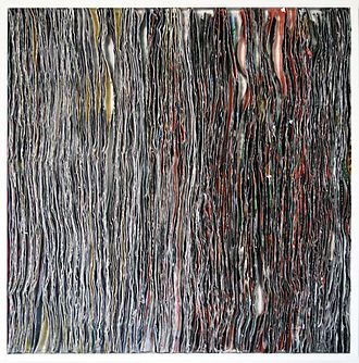 Pola Brändle - Collage in shadow gap frame, 2015, 47 x 47 cm