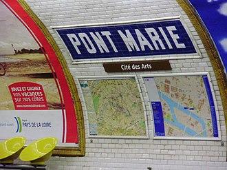 Pont Marie (Paris Métro) - Image: Pont Marie métro 05
