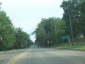 Port Edwards, Wisconsin - Population sign on WIS 54 / WIS 73