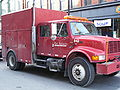 Port Authority red truck in Pittsburgh.JPG