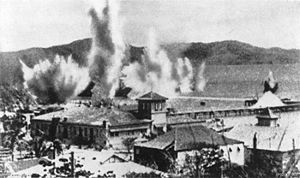 Port Moresby bombs in habour 1942