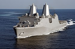 Port bow view of USS Anchorage (LPD-23) during builder's sea trials US Navy 120515-N-ZZ999-101.jpg