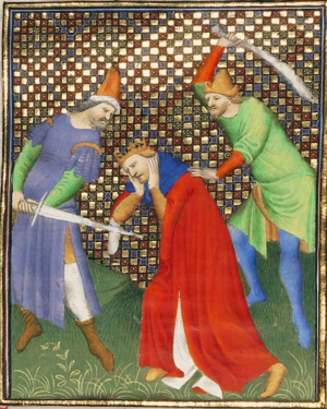 "Andriscus - Death of the ""false Philip"" in a 15th century miniature."