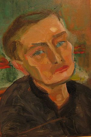 Stephen Gilbert - Portrait of Stephen Gilbert (oil on board) by Evelyn Marc (during the fifties)