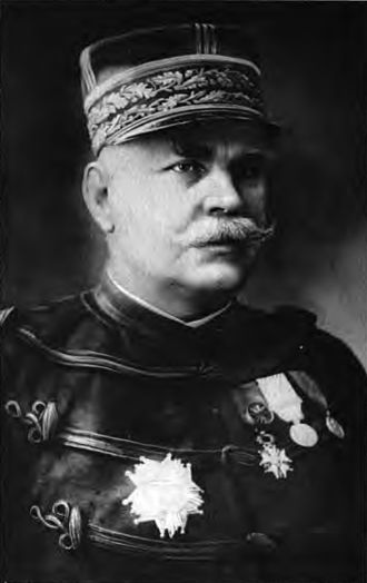 Grand Quartier Général (1914–1919) - General Joffre chief of staff from 1911 and head of the GQG from 1914–16