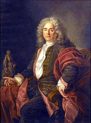 Hubert Drouais - Portrait of the sculptor Robert Le Lorrain, by Drouais, ca. 1730, Paris, musée du Louvre.