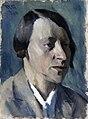 Portrait of the Sculptor Nina Niss-Goldman by Vladimir Grinberg (1930).jpg