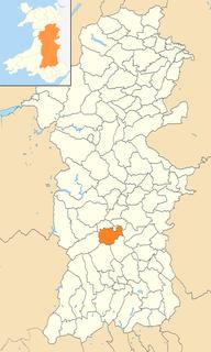 Duhonw community in Powys, Wales