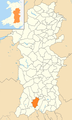 Powys Wales communities - Glyn Tarell locator.png