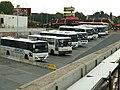 Praha, Černý Most, autobusy různých dopravců.jpg