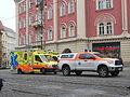 Praha, náměstí Republiky, vozy ZZS.jpg