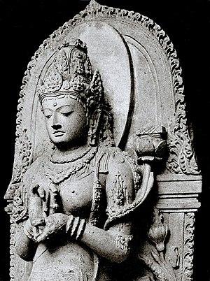 Mahayana - A statue of Prajñāpāramitā personified, from Singhasari, East Java, Indonesia.