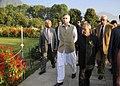 Pranab Mukherjee visiting the Nishat Garden, in Srinagar, Jammu and Kashmir. The Governor of Jammu and Kashmir, Shri N.N. Vohra and the Chief Minister of Jammu and Kashmir, Shri Omar Abdullah are also seen.jpg