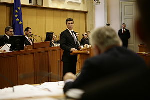 Zoran Milanović - Zoran Milanović in the Croatian Parliament on 23 December 2011