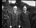 Pres. Coolidge snapped with Gen. Charles G. Dawes (White House, Washington, D.C.) LCCN2016893594.jpg