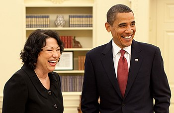 President Barack Obama and Justice Sonia Sotom...