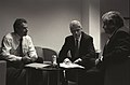 President Bill Clinton meets with Prime Minister Tony Blair and Sandy Berger at Waterfront Hall in Belfast (01).jpg