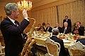 President Bill Clinton with a saxophone at a dinner hosted President Boris Yeltsin.jpg