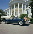 President John F. Kennedy and President Dr. Sarvepalli Radhakrishnan of India in Car Before Motorcade (4).jpg