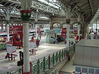 Preston railway station - The ramp to platforms 3 and 4