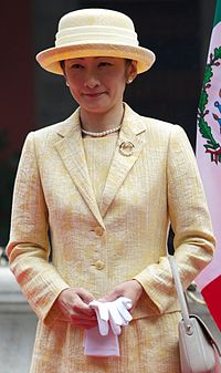 Princess Akishino of Japan Prince and Princess Akishino during their visit to México City (2014) (3) (cropped).jpg