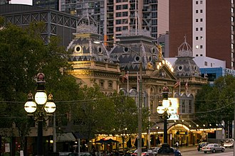 Princess Theatre (Melbourne) - The theatre at dusk, July 2010
