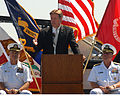 Principal Civilian Deputy Assistant Secretary of the Navy James E. Thomsen speaks at the unveiling ceremony of the littoral combat ship anti-submarine warfare mission package at the Naval Base Point Loma Naval 080919-N-DZ831-196.jpg
