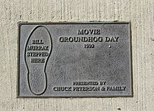 Prlaque of Movie(Groundhog day) Woodstock, IL.jpg